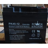 Jual Baterai Kering Power Kingdom Pk 45-12 12V 45 Ah - Aki Accu