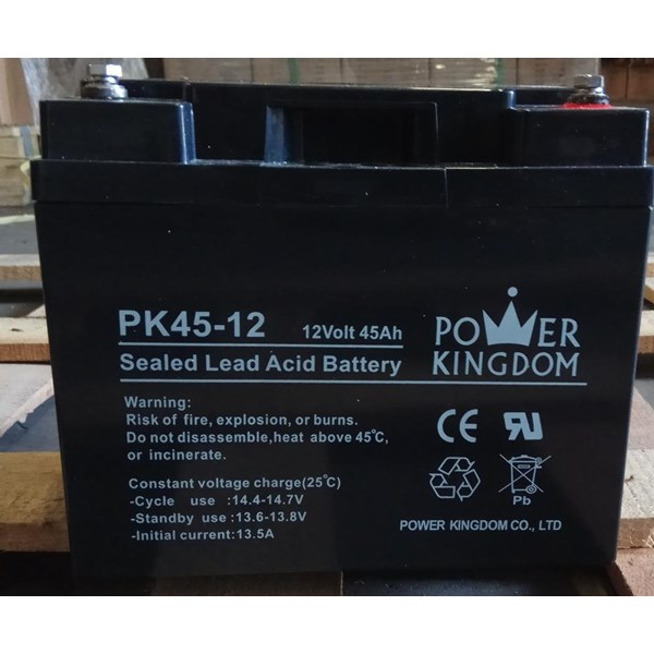 Baterai Kering Power Kingdom Pk 45-12 12V 45 Ah - Aki Accu