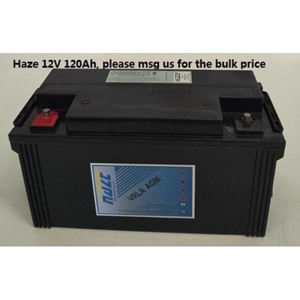 Baterai Kering Haze Hzb 12-120 12V 120 Ah - Aki Accu