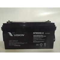 Agm Batteries Vrla Baterai Kering Vision 6Fm 65-X 12V 65 Ah - Aki Accu Original