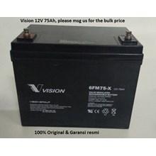 Baterai Kering Vision 6Fm 75-X 12V 75 Ah - Aki Ac
