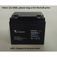 Agm Batteries Vrla Baterai Kering Vision 6Fm 45-X 12V 45 Ah - Aki Accu