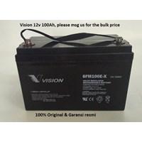 Agm Batteries Vrla Baterai Kering Vision 6Fm 100-X 12V 100 Ah - Aki Accu