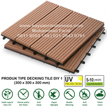 Lantai Kayu Parket Decking Tile