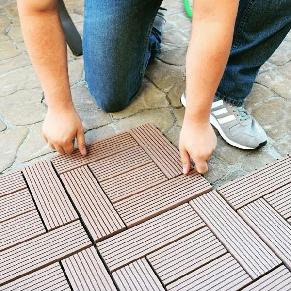 Lantai Kayu WPC Decking Tile