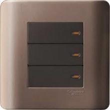Saklar 3 Gang 1 Arah Zencelo Silver Bronze E8433_1_SZ_G3