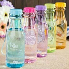 Botol Minum BPA FREE Bottle Bening 550 ml - Botol Air Minum Sporty H-909