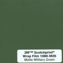 Car Wrap Film 3M 1080 M26 Matte Military Green