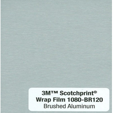 Car Wrap Film 3M BR120 Brushed Aluminium