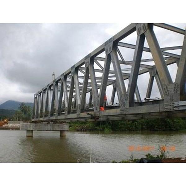 Jembatan Girder Baja Konstruksi Jembatan Rangka Baja Truss