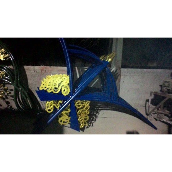 Tiang lampu jalan pju hias dekorasi