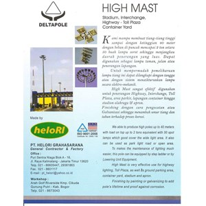 Tiang High Mast Automatic Lowering System (tiang besi poligonal)
