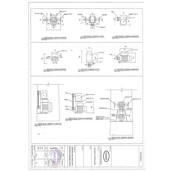 Tiang High Mast Automatic Lowering System (Tiang Lampu Polygonal)