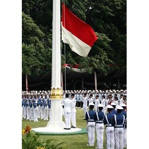 Tiang Bendera Poligonal Tiang Besi Galvanis
