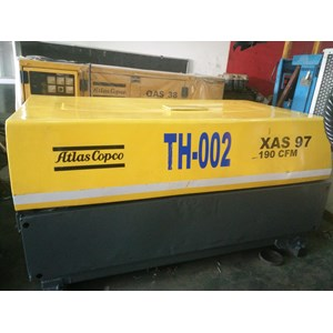 Rental Unit Atlas Copco  Air Compressor Dryer System Xas 97 190 Cfm