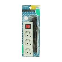 Stop Kontak Arde 3LB+Kabel+Saklar Uticon  ST-1382