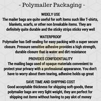 Jual Kemasan Pouch Dan Amplop Plastik Polymailer White Double Layer 60 Mc 17 X 30 + 5 Cm 2