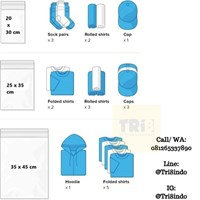 Jual Kemasan Pouch Dan Amplop Plastik Polymailer Silver Double Layer 60 Mc 17 X 30 + 5 Cm 2