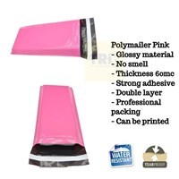 Kemasan Pouch Dan Amplop Plastik Polymailer Pink Double Layer 60 Mc 20 X 30 + 5 Cm