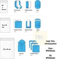 Jual Kemasan Pouch Dan Amplop Plastik Polymailer Black Double Layer 60 Mc 17 X 30 + 5 Cm 2