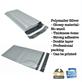 Amplop Plastik Polymailer – Silver