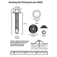 Jual Baut Roofing Roofseal 7 cm (SDS) 2