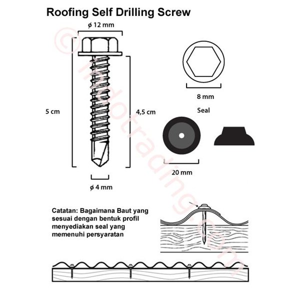Solartuff Fixing Screws (12 x 45)