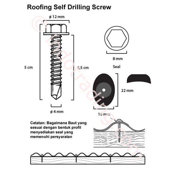 Self Drilling Screw (12 x 45)