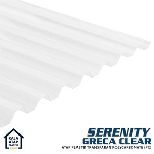 Atap Polycarbonate Gelombang Transparan Serenity (Greca)