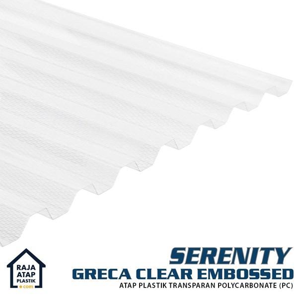 Atap Polycarbonate Gelombang - Serenity Greca Embossed
