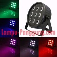 Lampu Par led 9x10w full color 4in1 slim