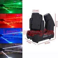 Lampu Moving 3 Head 3x12W Full Color