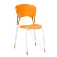 Kursi Cafe Plastik Minimalis – Lt02 Orange 1
