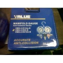 manifold gauge merk value tipe VMG-2-R22-B