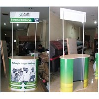 Distributor Pop Up Counter With Header - Meja Promosi 3