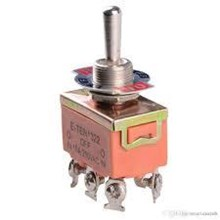 Toggle Switch 6 Kaki (ON-OFF-ON)