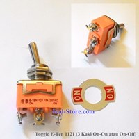 Toggle Switch 3 Kaki Spring Return