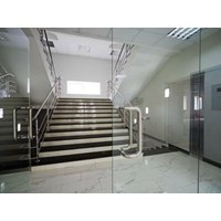 Tempered glass door partitions