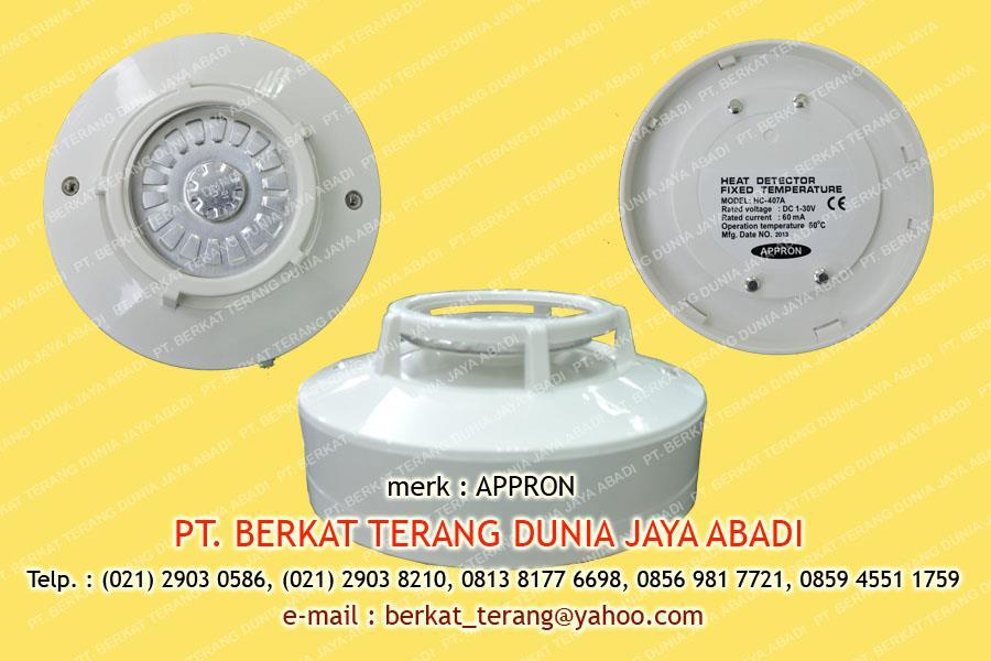 Jual APPRON Fixed Temperatur Heat Detector HC 407A Harga