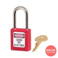 Master Lock  410Red Keyed Different Safety Padlock