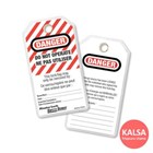 Master Lock 497A Do Not Operate Safety Tags Heavy Duty Laminated Safety Tag 1