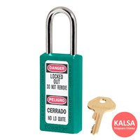 Master Lock 411TEAL Keyed Different Safety Padlock