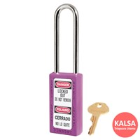 Master Lock 411LTPRP Keyed Different Safety Padlock