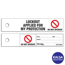 Master Lock S297LENUK Maintenance Lockout Safety Tag