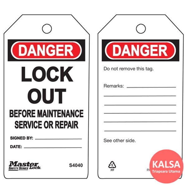 Master Lock S4040 Guardian Extreme Safety Tag