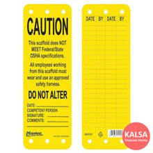 Master Lock S4701 Scaffolding Safety Tag