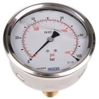 Pressure Gauge Stainless Case Back Connection