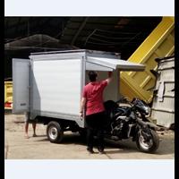 Karoseri Box Aluminium Motor Roda Tiga