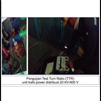 Pengujian Test Turn Ratio (TTR) Trafo 20 KV/400 V By Promindo Utama Wisesa