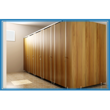 Partition walls Wood Toilet Cubicle